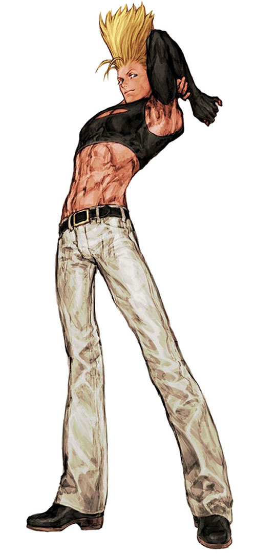 Benimaru Nikaido (King of Fighters) stretching his back