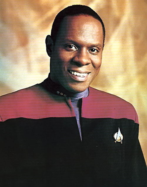 Captain Benjamin Sisko (Avery Brooks in Star Trek) back when he had hair