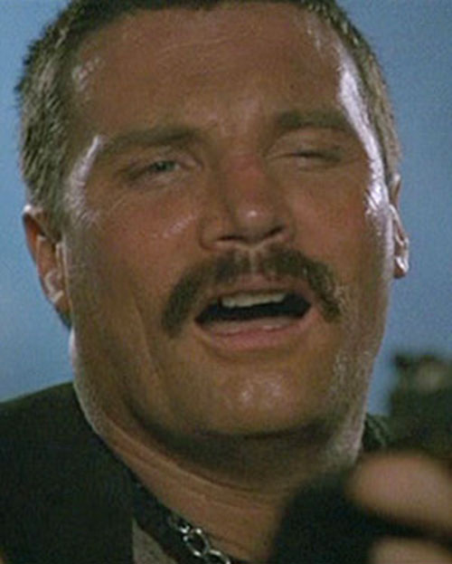 Bennett (Vernon Wells in Commando) making faces 2/7