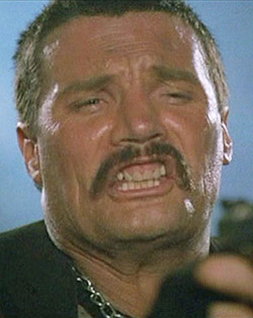 Bennett (Vernon Wells in Commando) making faces 3/7