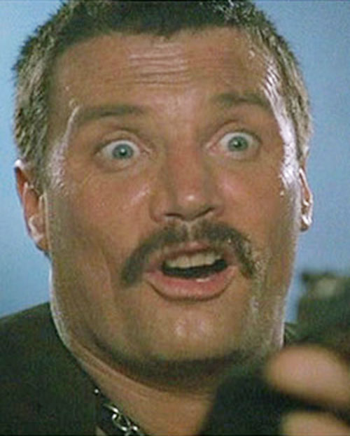 Bennett (Vernon Wells in Commando) making faces 4/7