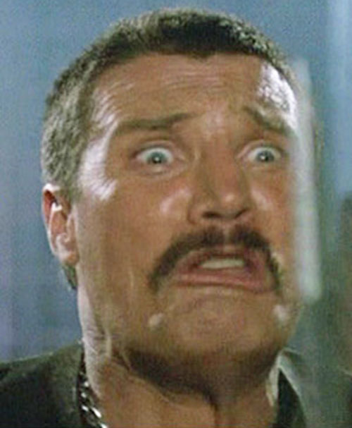 Bennett (Vernon Wells in Commando) making faces 6/7