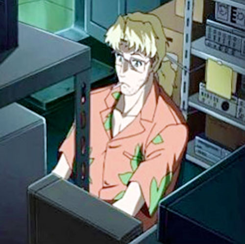 Benny (Black Lagoon) in a warehouse