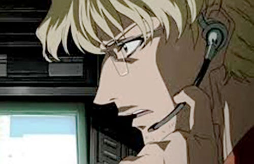 Benny (Black Lagoon) with a headset