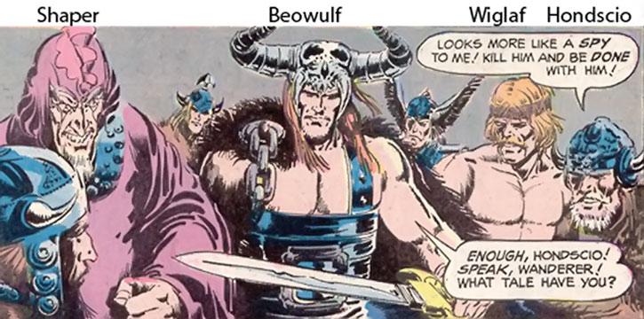 Shaper, Beowulf, Wiglaf and Hondscio