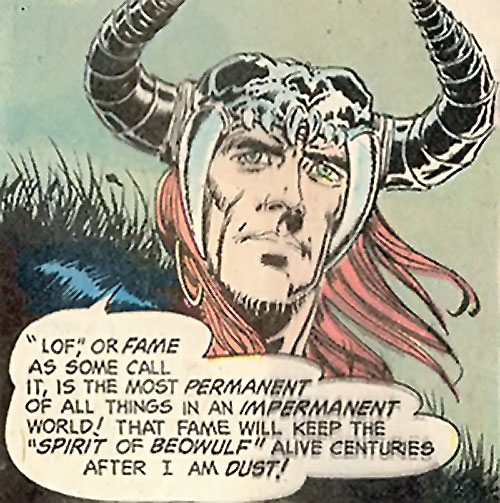 Beowulf (DC Comics) explaining lof