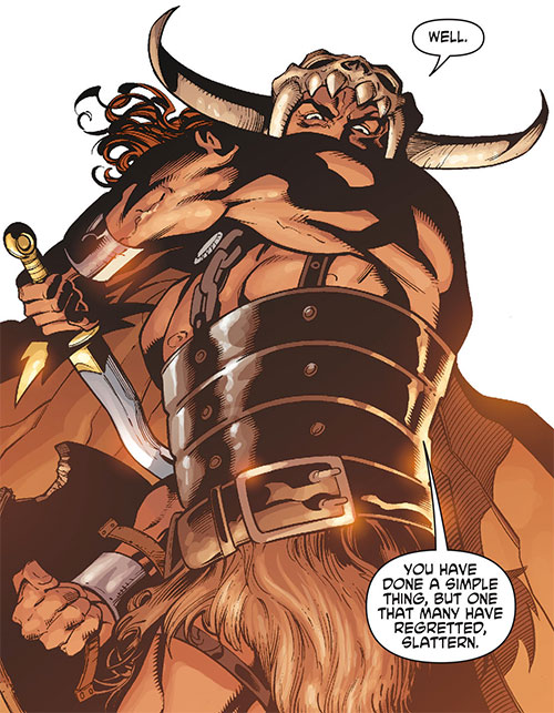 Beowulf (DC Comics) about to strike