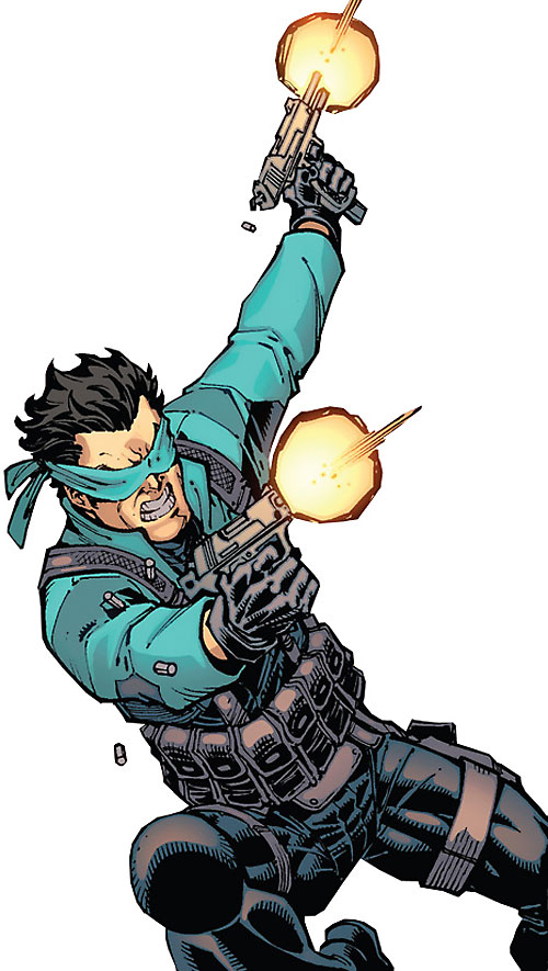 Best Tiger of the Guardians of the Globe (Invincible Comics Image) shooting both his pistols