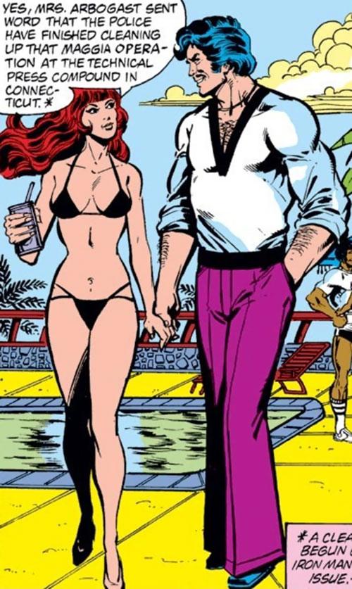 Bethany Cabe (Marvel Comics) and Tony Stark
