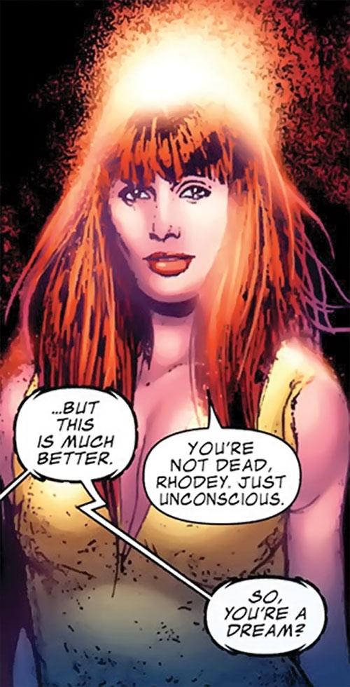 Bethany Cabe (Marvel Comics) with a halo