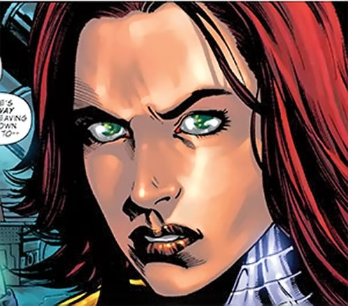 Bethany Cabe (Marvel Comics) looking pissed off