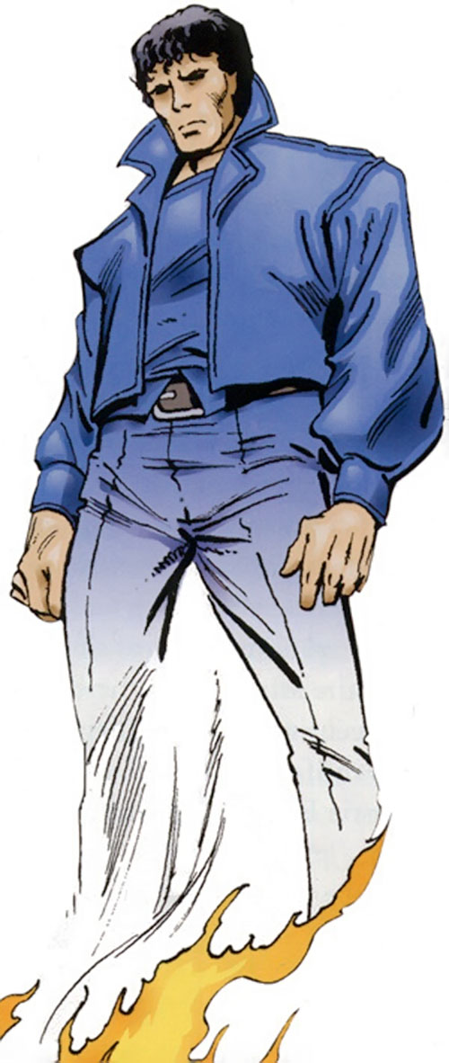 The Beyonder (Marvel Comics) as a ghost in blue clothes