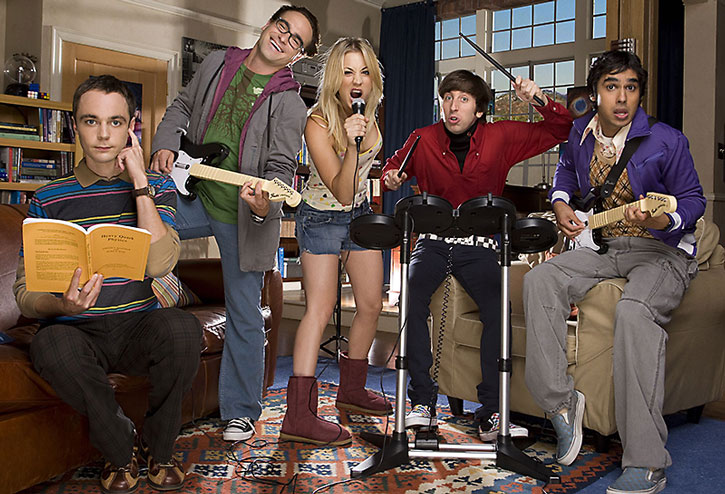 The Big Bang Theory cast as a band