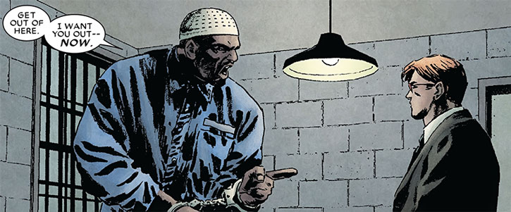 Big Ben Donovan and Matt Murdock in a cell