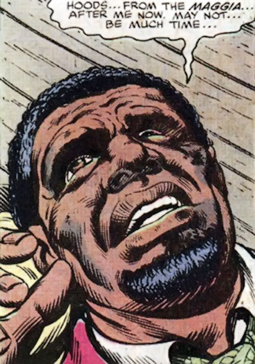Big Ben Donovan (Luke Cage character) wounded face closeup