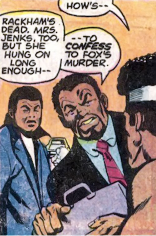 Big Ben Donovan (Luke Cage character) with a briefcase