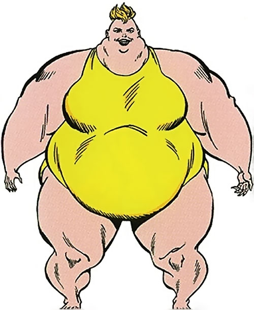 Big Bertha of the Great Lakes Avengers (Marvel Comics) from the master edition handbook