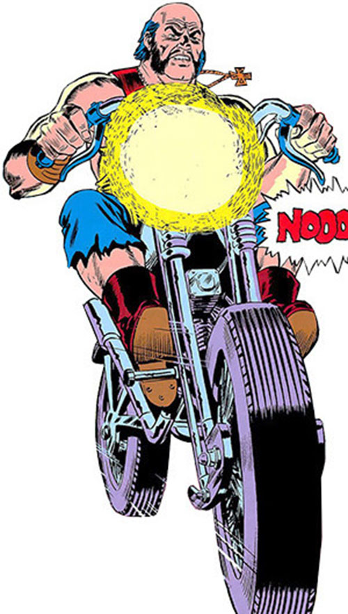 Big Daddy Dawson (Ghost Rider enemy) on his bike