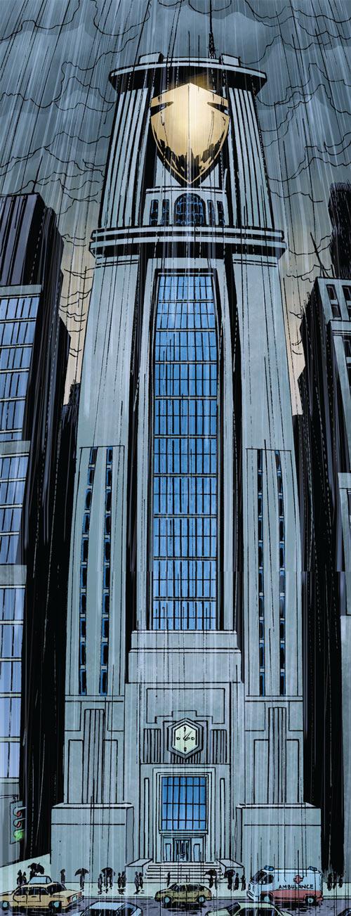 The Manhattan Guardian newspaper building (DC Comics - 7 Soldiers - Morrison)