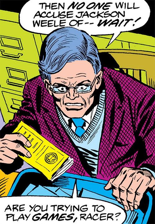 Big Wheel (Marvel Comics) (Spider-Man enemy) no costume