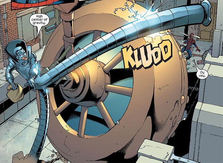 Big Wheel (Marvel Comics) (Spider-Man enemy) vs. Stilt-Man