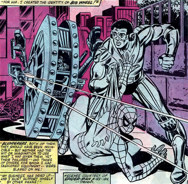Big Wheel (Marvel Comics) (Spider-Man enemy) - Rocket Racer flashback
