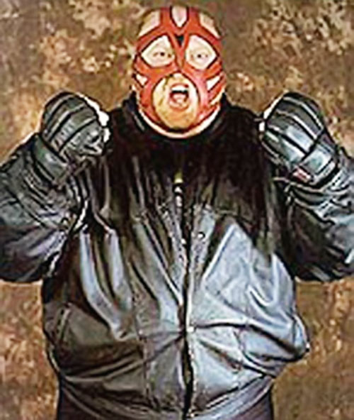 Big van Vader in a black leather jacket