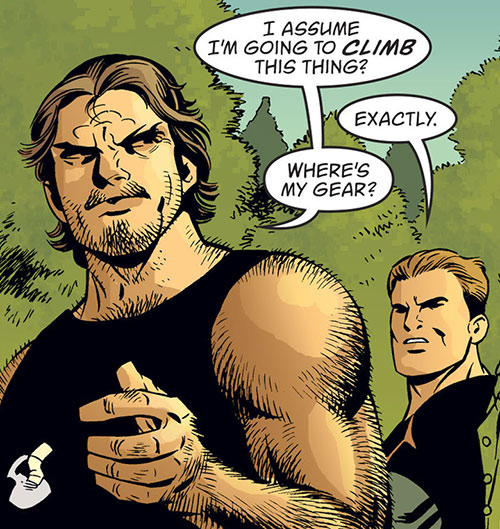 Bigby Wolf from Fables (DC Comics) being hairy