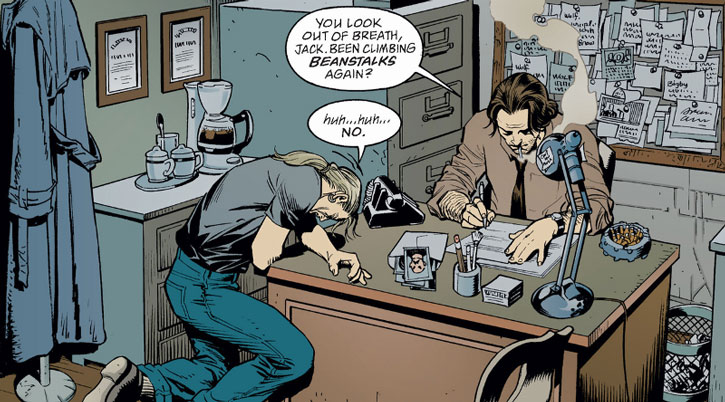 Bigby Wolf sees Jack of Fables in his cramped office