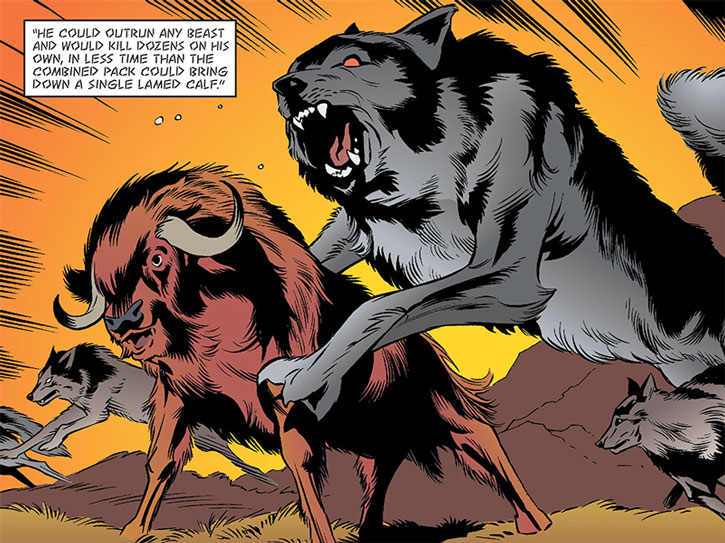 Bigby Wolf as a wolf god