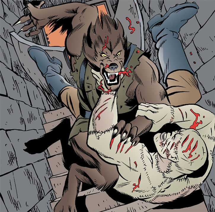 Bigby Wolf vs. Nazi Frankenstein monster