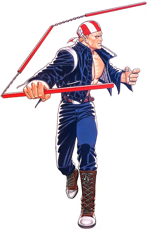 Billy Kane (Fatal Fury, King of Fighters) and his 3-piece rod