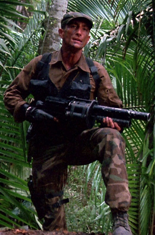 Poncho Ramirez (Richard Chaves in Predator) with his grenade launcher