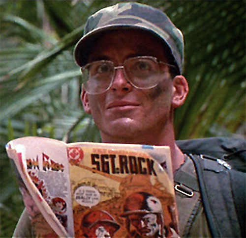Hawkins (Shane Black in Predator) reading Sgt. Rock