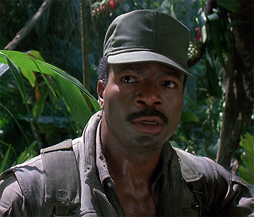 Dillon (Carl Weathers in Predator) face closeup