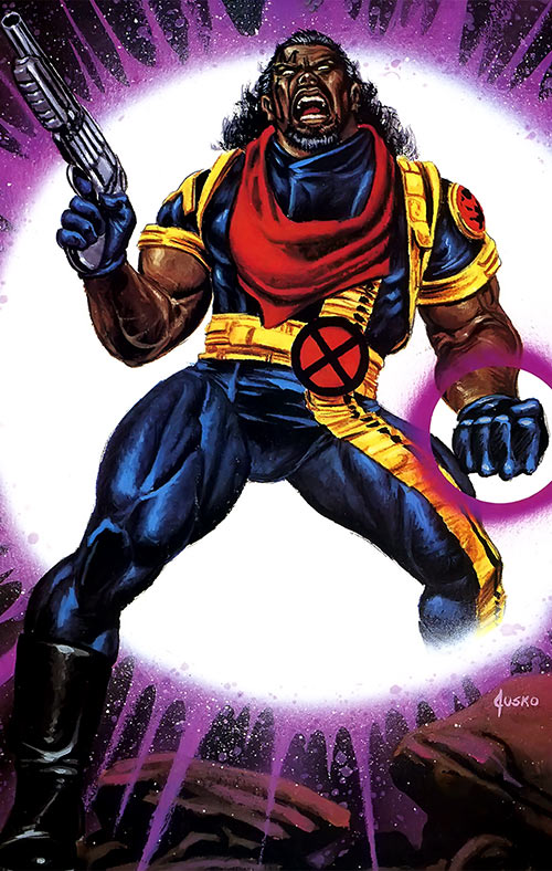 Bishop of the X-Men (Marvel Comics) Joe Jusko Masterpieces painting
