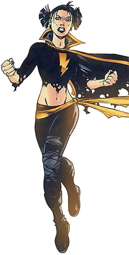 Black Alice (Birds of Prey) (DC Comics) using Captain Marvel's power