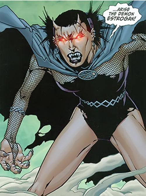 Black Alice (Birds of Prey) (DC Comics) using the Demon's power