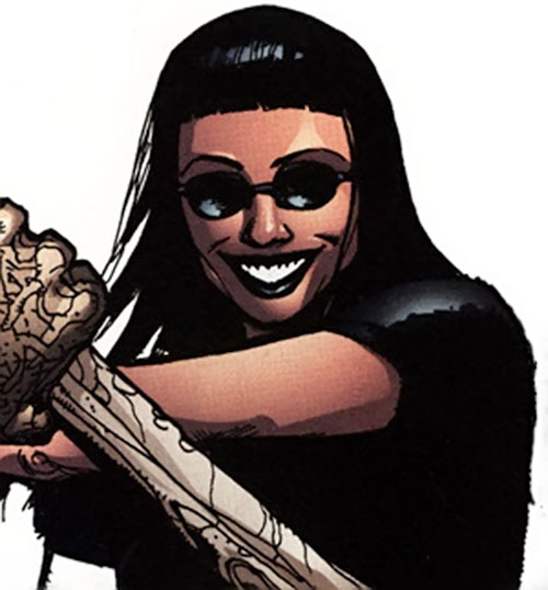 Black Betty of Stormwatch PHD (Wildstorm Comics) with shades and a huge grin