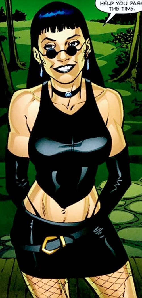 Black Betty of Stormwatch PHD (Wildstorm Comics) in sexy black leather