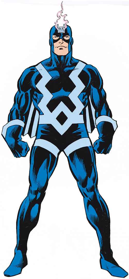 Black Bolt of the Inhumans (Marvel Comics) from the 1980s handbook
