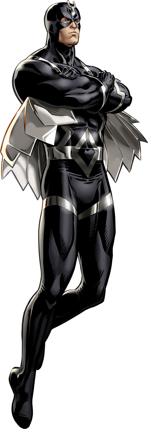 Black Bolt of the Inhumans (Marvel Comics) hovering