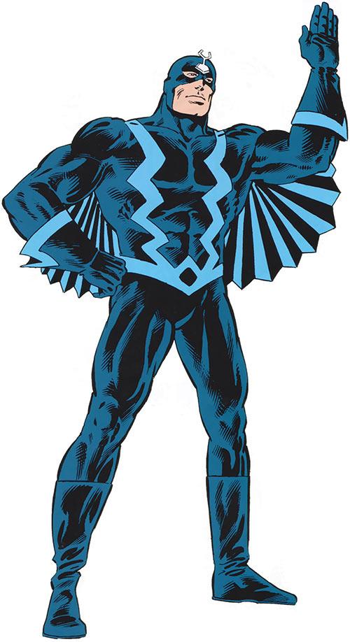 Black Bolt in the 1983 Official Marvel Comics Handbook