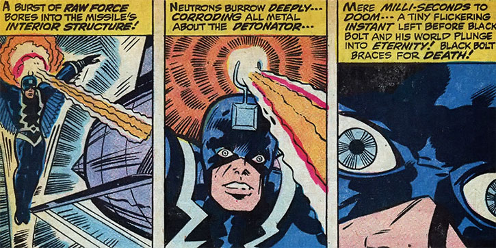 Black Bolt using his neutron beam