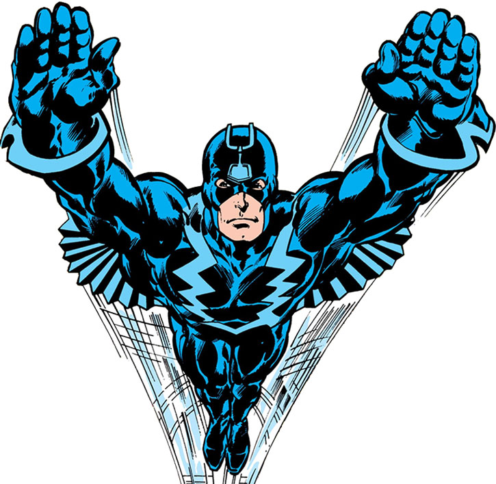 Black Bolt in flight