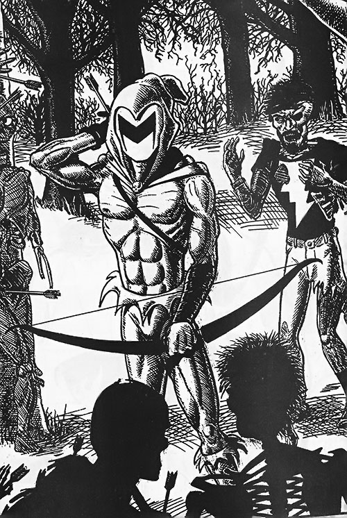 Black Bow (Artline Studio indie comics) vs. zombies
