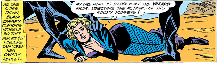 Black Canary (DC Comics) (1960s) vs the Wizard rock creatures