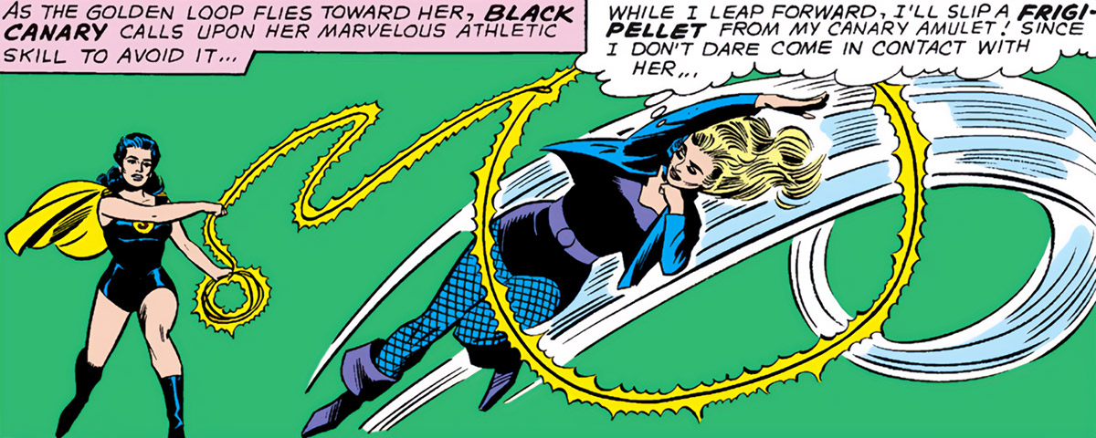 Black Canary (DC Comics) (1960s) vs Superwoman acrobatics