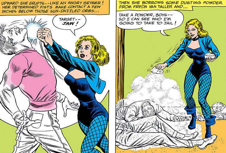 Black Canary (DC Comics) (1960s) captures invisible robbers