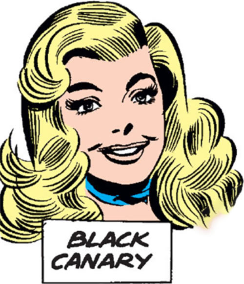 Black Canary (DC Comics) (1960s) portrait
